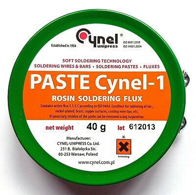 CYNEL-1 Rosin Soldering RMA Flux Paste 40g tin, QUALITY Colophony Base – ref:953