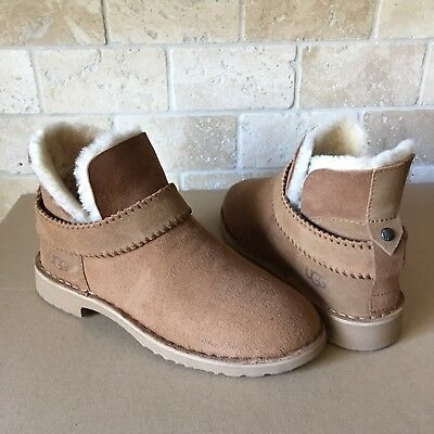 6be4ba38729 NEW UGG WOMEN Mckay Ankle Boots 1012358 Chocolate Water Resistant ...