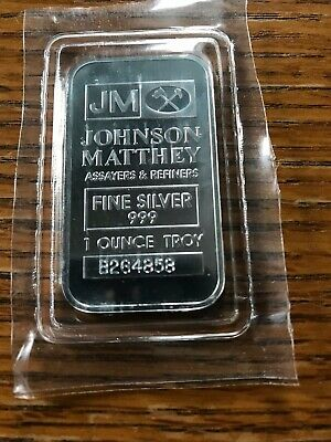 1oz Johnson Matthey Silver Bar