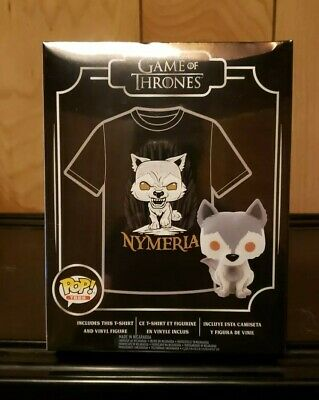 Funko Pop! Game of Thrones Nymeria #76 T-Shirt Set Size 2XL HT Exclusive In Hand