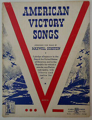 VINTAGE 1942 WWII VICTORY SONG BOOK For Soldiers Sailors and