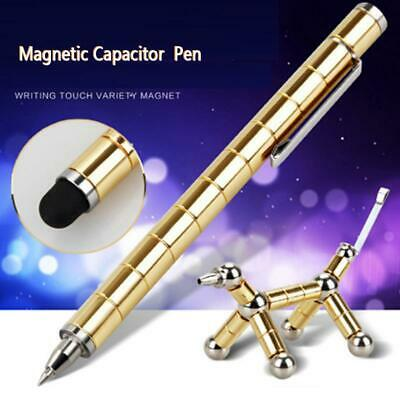 Magnetic Polar Pen Metal Pens Creative Ballpoint Office Stationery Toy Gift