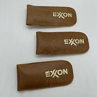Vintage Exxon Pocket Eyeglass Repair Kits 3 Set Magnifying Glass Tools Nylok
