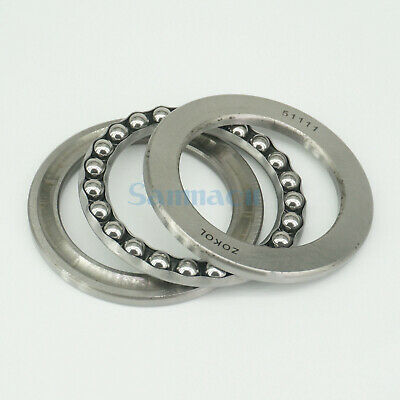 51111 55 x 78 x 16mm Axial Ball Thrust Bearing (2 Steel Races + 1 Cage) ABEC-1