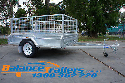 Special Clearance!! 7X5 Tipper Box Trailer with 600mm Cage