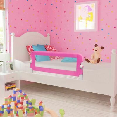 Kid Child Toddler Safety Bed Rail Baby BedRail Fold Cot Guard Protection Pink