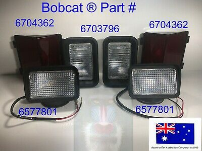 BOBCAT HEADLIGHTS TAIL LIGHTS REAR LIGHT SET F-C Series 653 753 853 7753 751 763