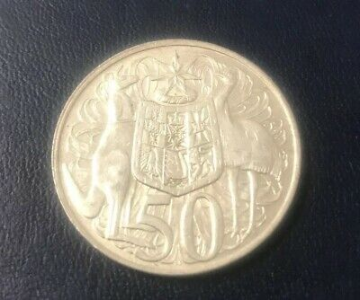 1966 Australian Australia Fifty Cent Piece 50 Cents Coin Round Silver