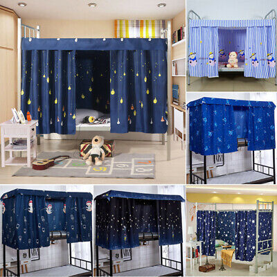 Students Dormitory Thin Bunk Bed Curtain Lightproof Dustproof Single Bed Tent