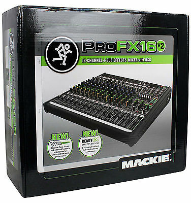 Mackie PROFX16v2 Pro 16 Channel 4 Bus Mixer w/ Effects / USB PROFX16 V2 IN BOX