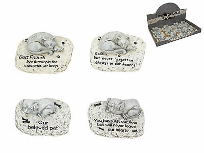 Pet Memorial headstone statue for a dog or cat with inspirational words - 11cm