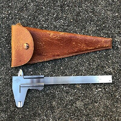 FWP Poland Inside / Outside Stainless Steel CALIPER w Leather Pouch