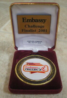 A 2001 Gold Coloured Embassy Challenge Finalist fishing angling medallion