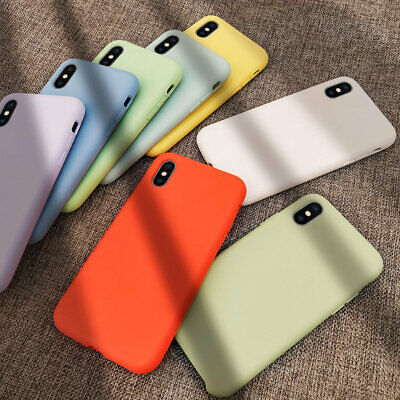 Slim Liquid Soft Silicone Baby Skin Case Cover For iPhone Xs Max XR X 7 8 Plus 6