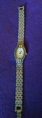 womens Geneva Platinum watch marcasites mother of pearl face