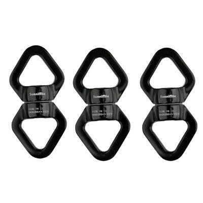 6PCs Gate Carabiner Rotator Rope Swivel Connector 30KN for Climbing Caving