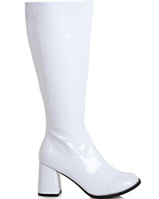 White Patent Wide Fit Go Go Womens Boots