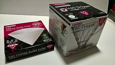 Hario V60 coffee filter dripper quality Japan plastic design plus filter papers