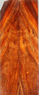 "#6162 Rosewood Bookmatch Wood Kinfe Blank 4.95/""x3.2/""x0.45/"""