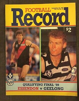 Essendon V Geelong Vfl 1989 Qualifying Final Record #1