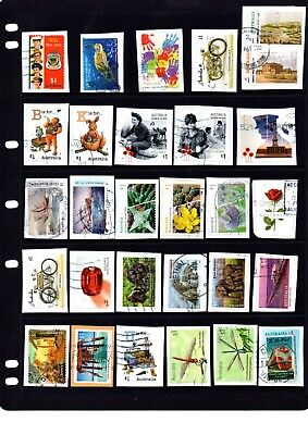 Collection of  recent Australian $1.00 stamps -  Kiloware - Lot 503. Free Post.