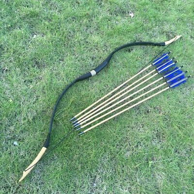 hand Painted Archery Sets & Kits Traditional Recurve Archery Set With 20 Arrows Plus Holder Archery