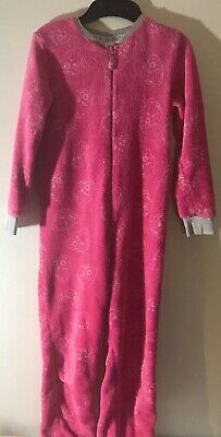 Girls Tatty Teddy Fluffy Pink 1 All In One Me To You PJs Pyjamas 8-9 Yrs (A41)
