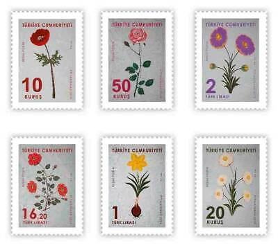 TURKEY/2019 - FLOWERS (MARBLING ART) THEMED OFFICIAL ISSUE (Roses), MNH