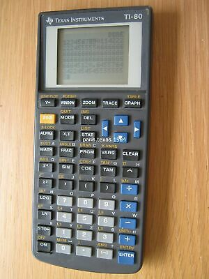 Texas Instruments TI-80 Graphing Scientific Calculator Battery Power TI80