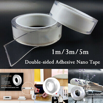 Double-sided Adhesive Nano Tape Traceless Washable Removable Tapes Gel Sticker
