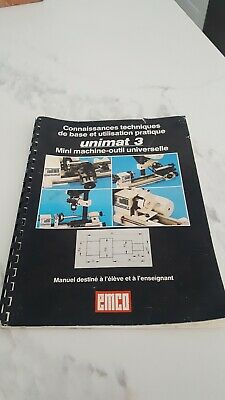 EMCO UNIMAT 3 LATHE 3 TEACHER MANUAL FRENCH Not a copy