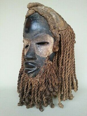 Ceremonial male mask from the DAN  tribe of West Africa 1950s