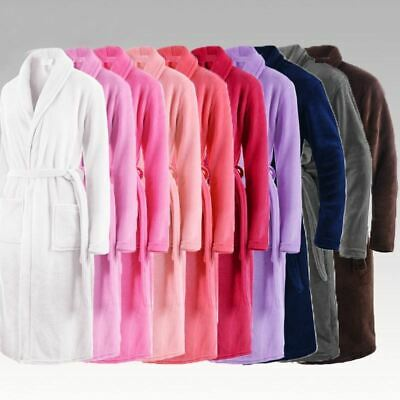 Men & Ladies 100% Cotton Terry Towelling Shawl Bathrobe Dressing Gown 5 Colors