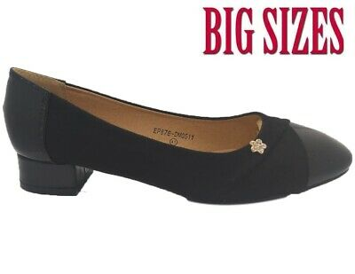 New Women Ladies Loafers Flat Casual Work Pumps Diamante Comfort Big Sizes Shoes