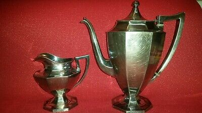 "wilcox s.p.co International Silver Plated Pitcher 1951 10"" & Creamer Pitcher 5"""
