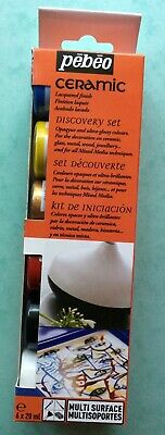 PEBEO Ceramic paints - multi-use - set of 6 - Quality - Brand New