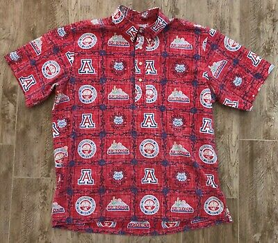 fa4905dd0 Reyn Spooner University of Arizona Wildcats Men's Aloha Shirt-XL U of A