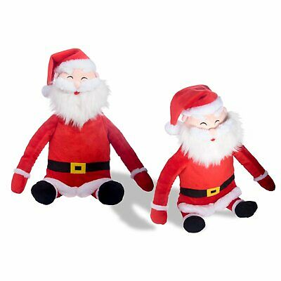 0.8L Hot Water Bottle Soft Cuddly Santa Claus Father Christmas Cover Pain Relief