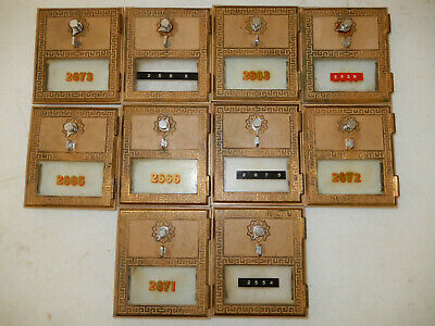 Ten #2 Vintage 1961 Post Office Box Doors With Combination made by Federal lock