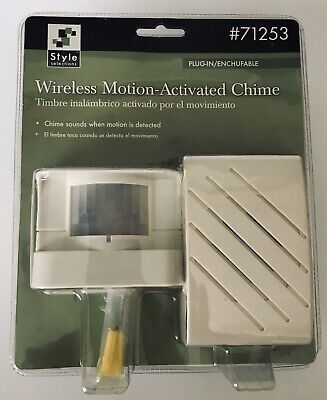Wireless Motion Activated Chime Style Selections 71253 Alarm Alert Entrance Room