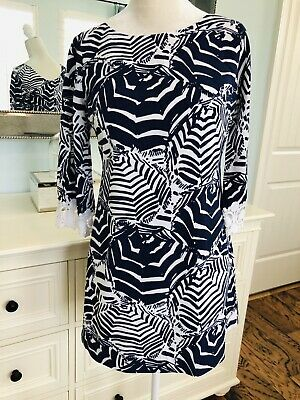 be00ffeab5d2 Lilly Pulitzer Harbor Tunic Dress Oh Cabana Boy Navy White Small SEE  DESCRIPTION