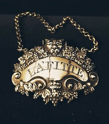 Sterling Silver Decanter Tag, Lafitte,by William Bateman 1839