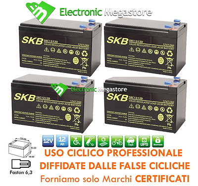 KIT BATTERIE ULTRA 48V 12Ah GEL AGM CICLICHE DEEP-CYCLE BICI ELETTRICA MOTO