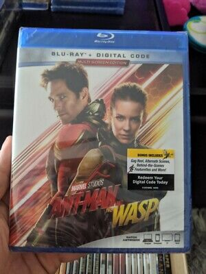 Ant-Man and the Wasp (Blu-ray + Digital) BRAND NEW!! MARVEL