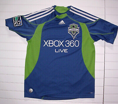 purchase cheap 2a8fd cc898 SEATTLE SOUNDERS FC MLS Jersey Black adidas Youth L Mint ...