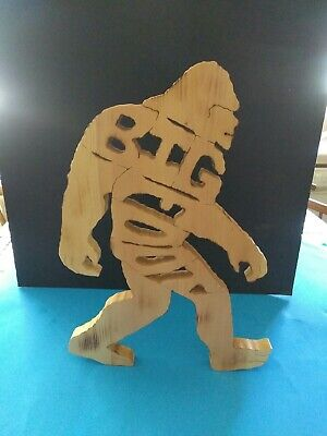 Big Foot solid one piece wood. Hand cut with scroll saw