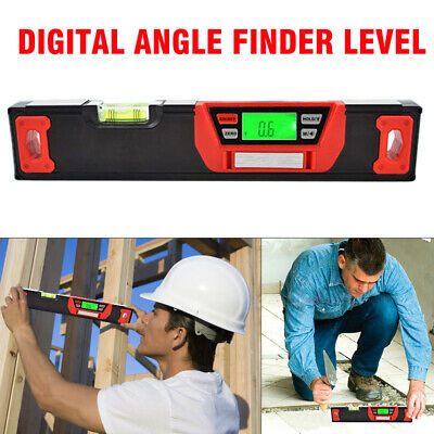 360° LCD Blacklight Digital Magnetic Angle Finder Level Inclinometer 300mm