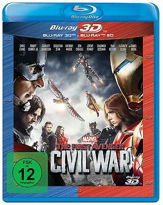 Captain America: 3 - The First Avenger: Civil War [3D + 2D Blu-ray/NEU/OVP]