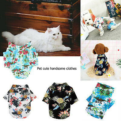 Pet Puppy Summer Shirt Dog Cat Pet Kitten Clothes Vest T Shirt Beach Apparel
