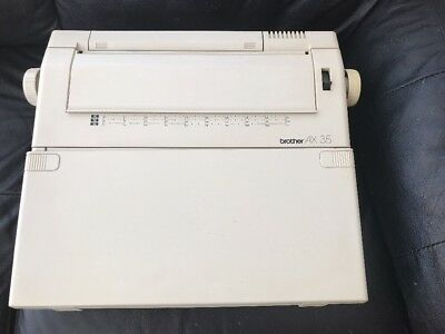 Brother AX35 Electric Typewriter w/ Keyboard Cover - Working and Tested